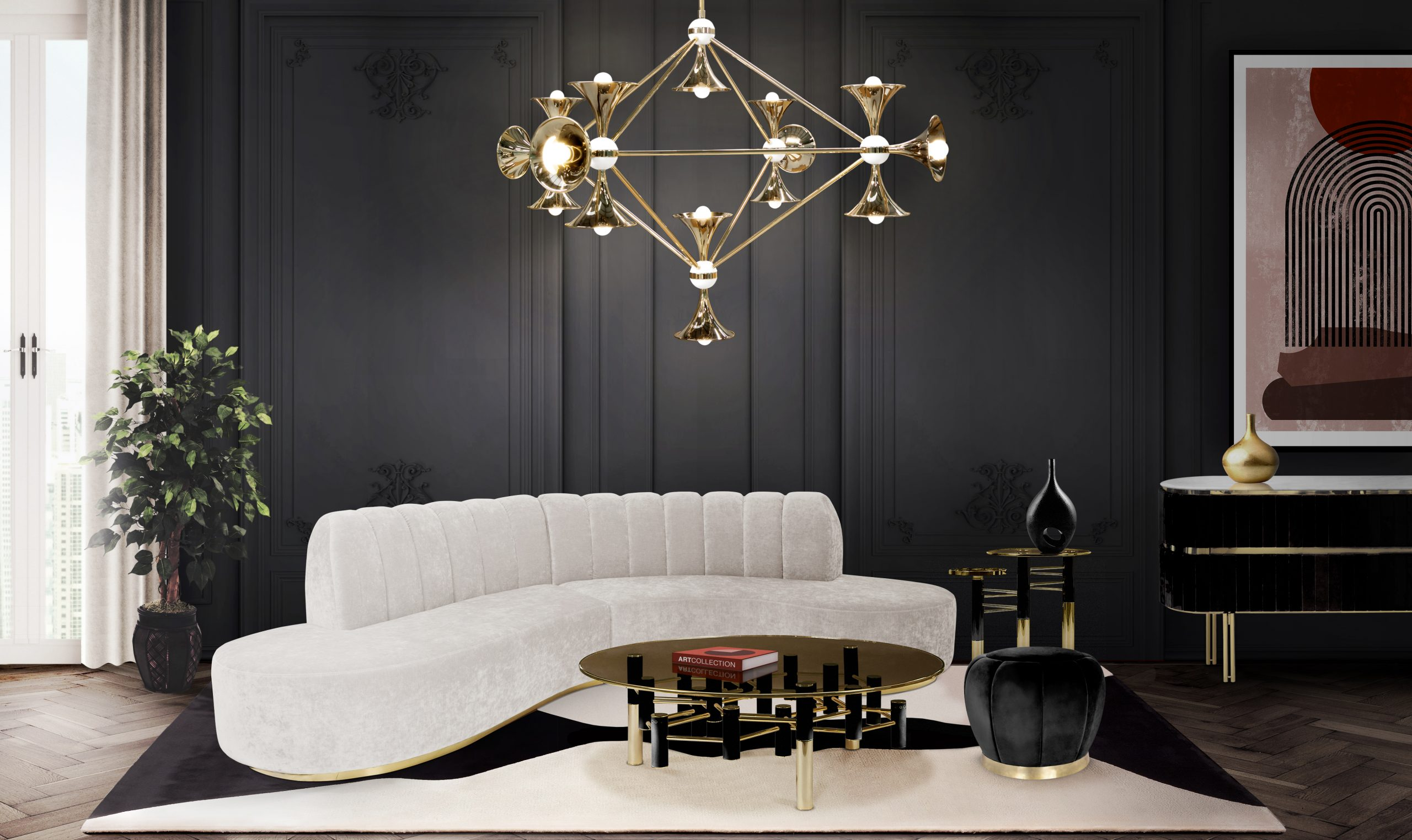 SOPHISTICATED LUXURIOUS LIVING ROOM