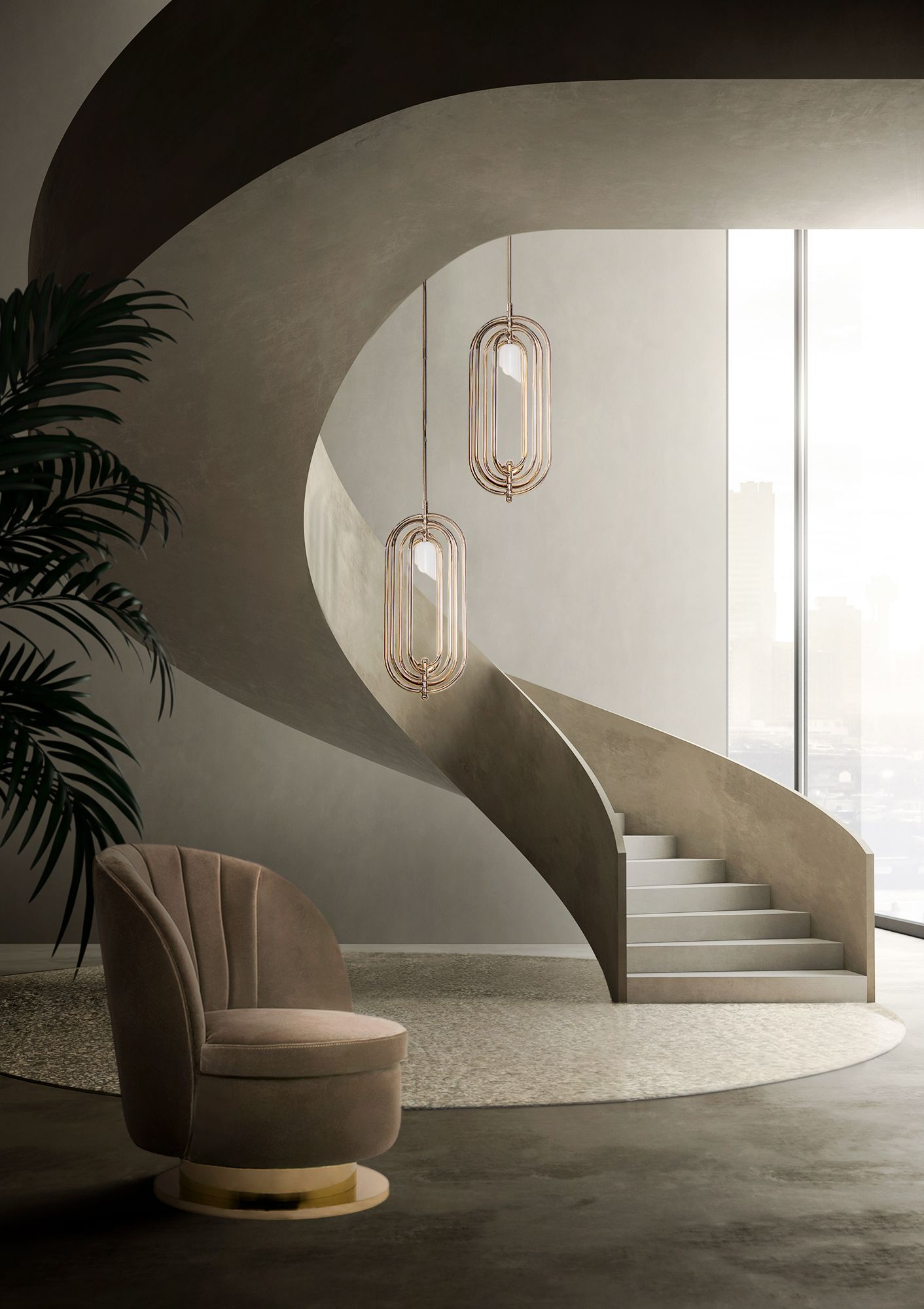 AMAZING ENTRANCE HALL WITH NEUTRAL COLORS