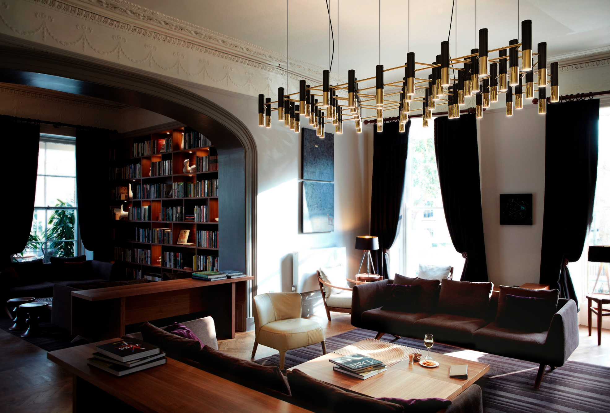 8 incredible mid century modern lighting design ideas for Hotel design come