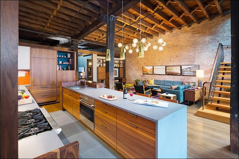 FROM 19TH CENTURY SOAP FACTORY TO AN ECLECTIC CONTEMPORARY LOFT Contemporary Loft