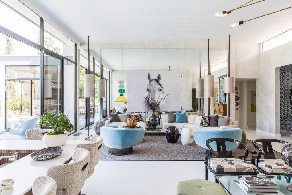 Transformations inside a mid century modern home - Palm springs interior design style ...