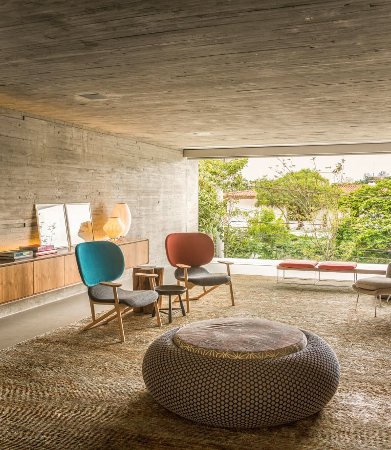 Mid-century Elegance meet Contemporary Style in this family home in Brazil