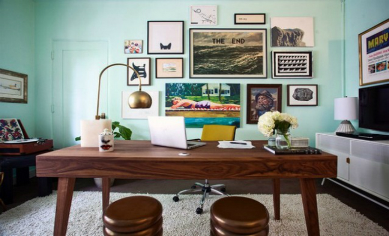 Mid Century Modern Home Office Designs
