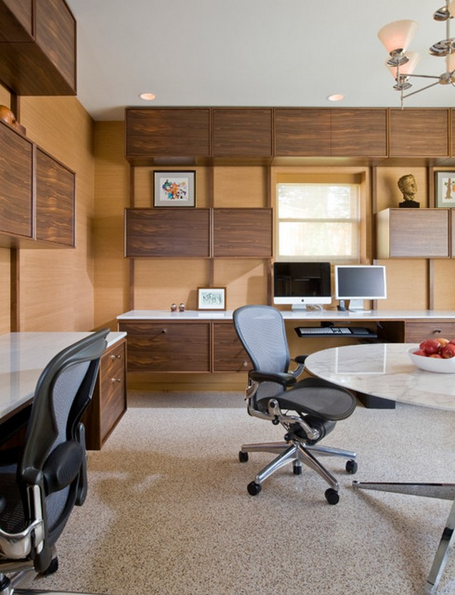 image6 Mid-Century Modern Home Office Designs home office design Mid-Century Modern Home Office Design Image6 1