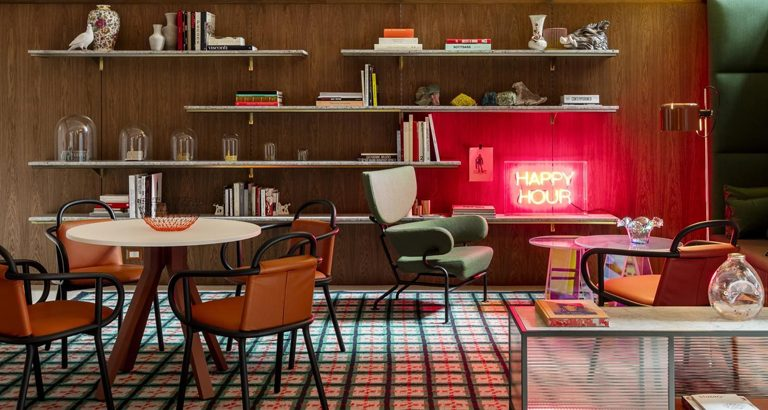 Patricia Urquiola designs a colorful Hotel Room Mate Giulia in Milan   You can visit us at our website, www.essentialhome.eu and check our Pinterest @midcenturyblog to get more #MidCenturyModern inspiration.
