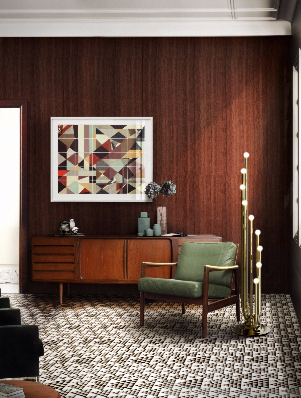mix & match: mid-century furniture and brass