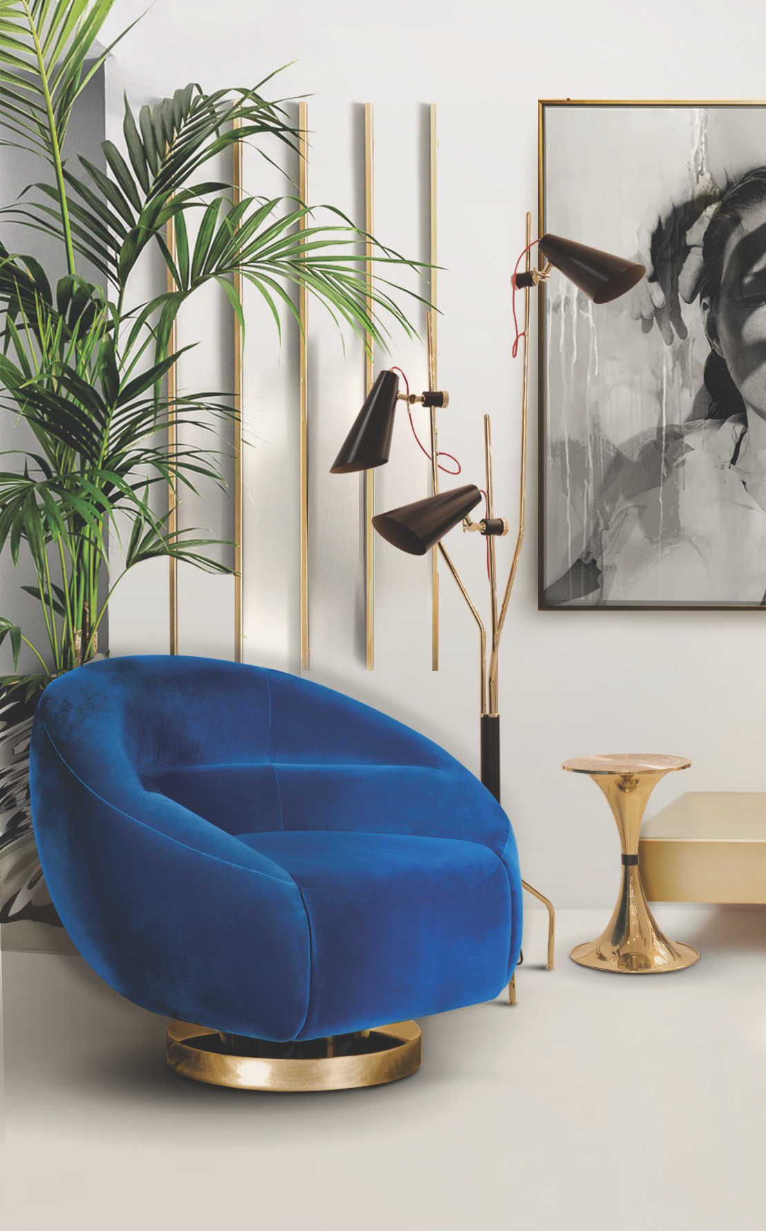 Mood Board- Using Lapis Blue on Your Mid-Century Furniture mid-century furniture Mood Board: Using Lapis Blue on Your Mid-Century Furniture Mood Board Using Lapis Blue on Your Mid Century Furniture 1