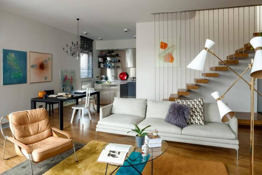 Art Nouveau Design Floods a Mood Works Updated Apartment