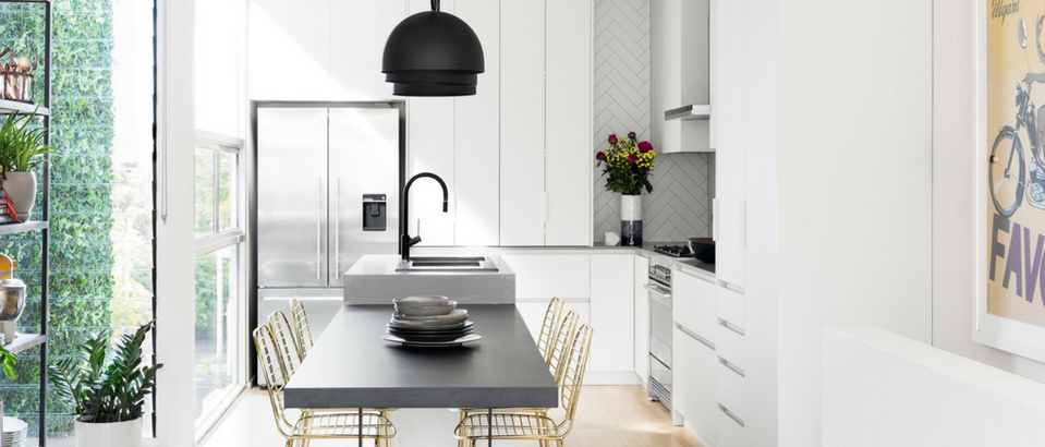 Room of the Week- A Kitchen Remodel Shining with Black and Gold