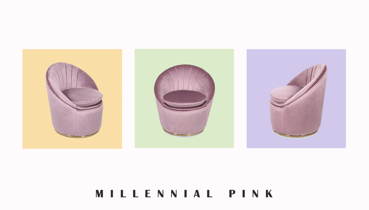 Миллениальный розовый в интерьере