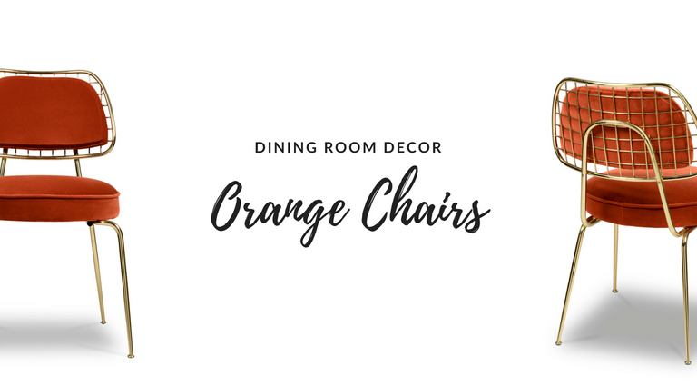 These Orange Dining Chairs Will Convince You to Go Mid-Century_feat