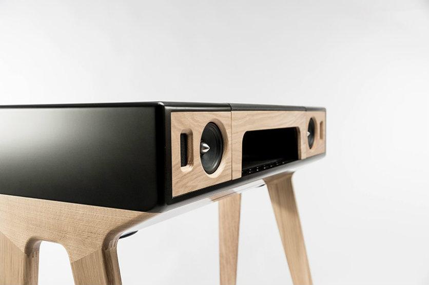 mid-century modern speaker by La boite concept at maison et objet maison et  objet