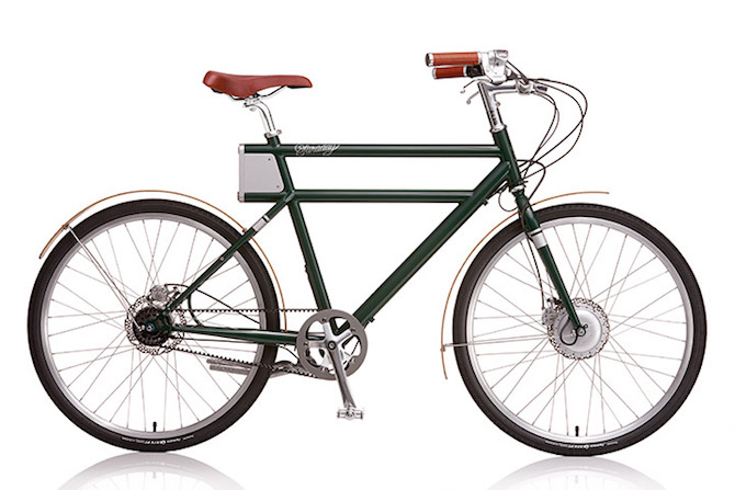 Give a Retro Look to a Modern Eletric Bike_Faraday_SideKS_Forest retro look Give a Retro Look to a Modern Electric Bike Give a Retro Look to a Modern Eletric Bike Faraday SideKS Forest