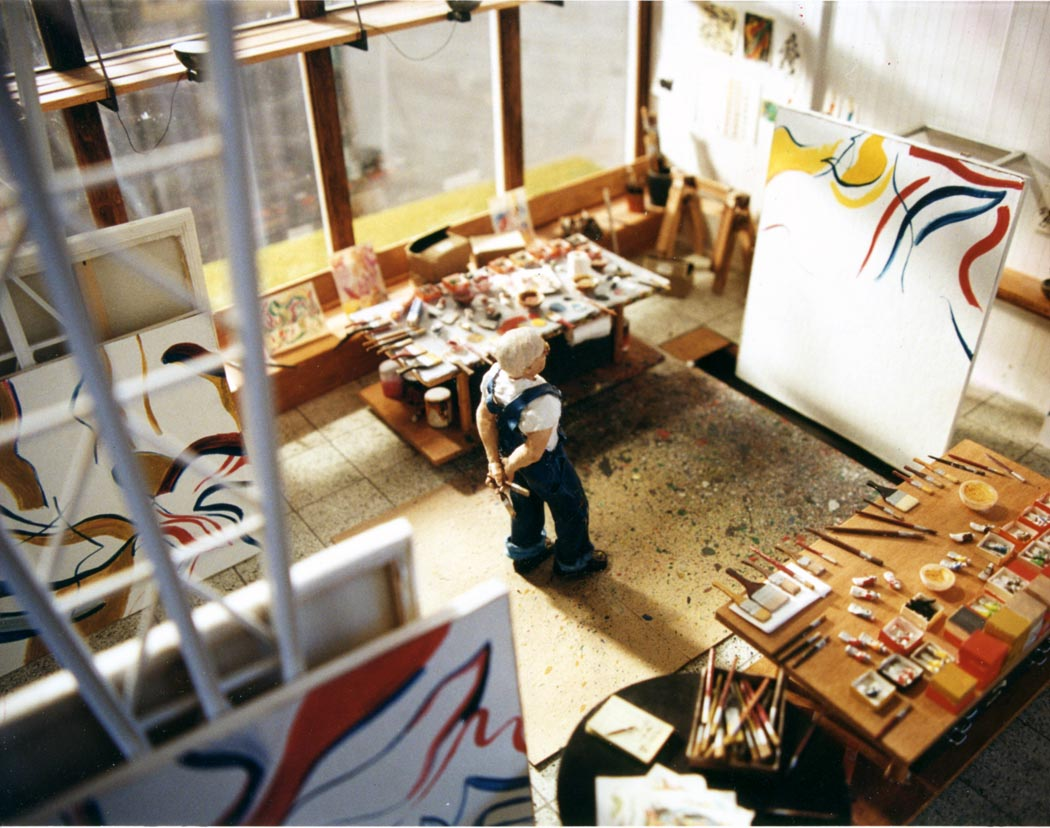Joe Fig creates hyper realistic sculptures Joe Fig Joe Fig creates hyper realistic sculptures of famous artists Joe Fig creates hyper realistic sculptures 2