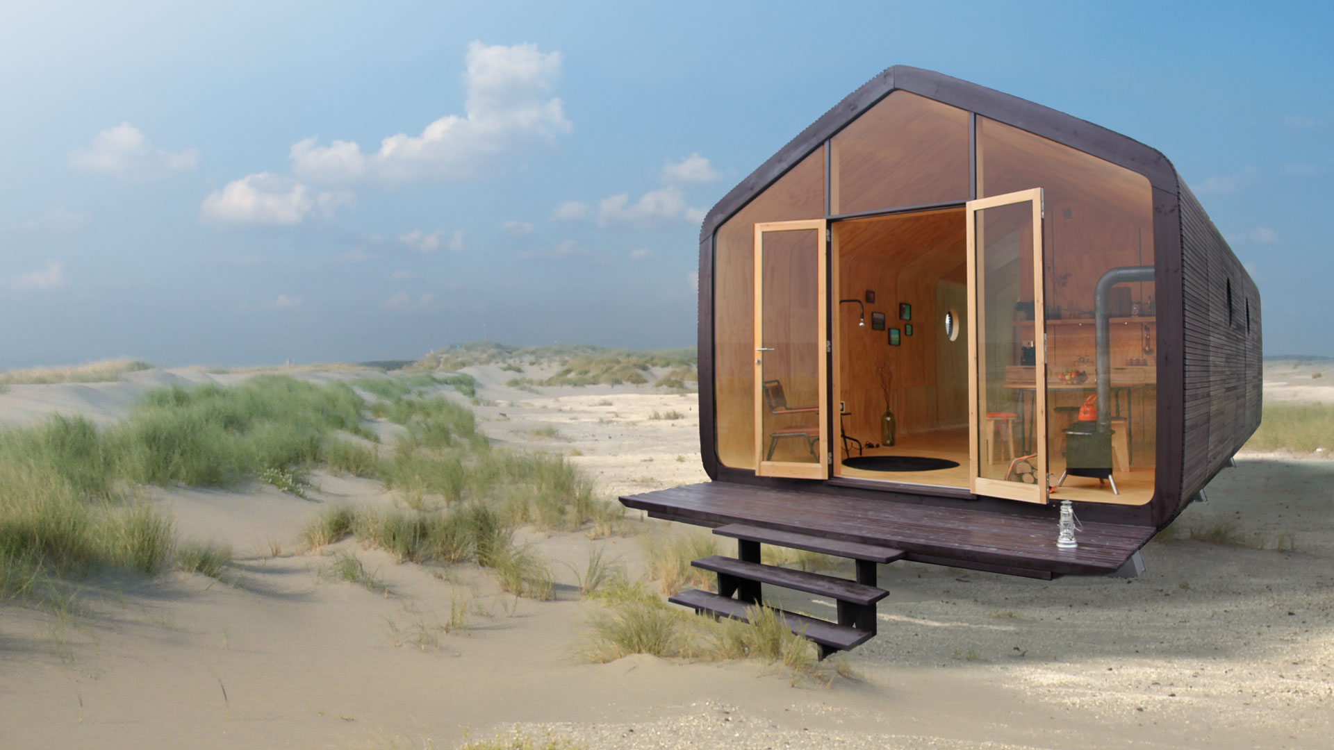 Sustainable cardboard house is ready in 24 hours and lasts