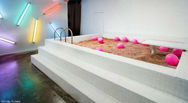 The Museum of Ice Cream There is a chocolate room, which has an almost sickly sweet smell of syrup. There is a chocolate bean bag in the middle of the room, where Ms. Bunn flops and beckons guests to look at the swirling liquid chocolate projections on the wall. museum of ice cream The Museum of Ice Cream in New York City Taste Museum of Ice Cream 7 600x330