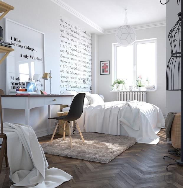modernist-scandinavian-bedroom-design Scandinavian Bedroom 5 Ideas/Inspirations to a Scandinavian Bedroom modernist scandinavian bedroom design