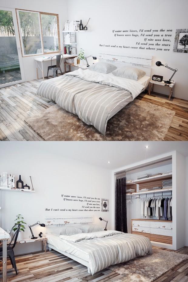 typographical-scandinavian-decor Scandinavian Bedroom 5 Ideas/Inspirations to a Scandinavian Bedroom typographical scandinavian decor
