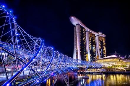 Helix Bridge: the spectacular bridge of Singapore