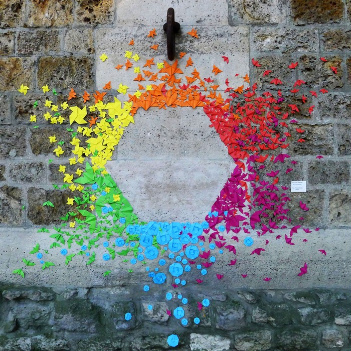 Street art: French artist colors the cities with origamis street art Street art: French artist colors the cities with origamis Street art French artist colors the cities with origamis 7