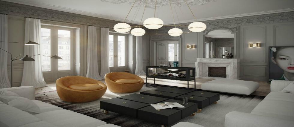 5 DESIGN TRENDS TO CREATE HOUSES WITH A PARISIAN STYLE Trends 5 DESIGN TRENDS TO CREATE HOUSES WITH A PARISIAN STYLE 2 classic parisian apartment contemporary interior design