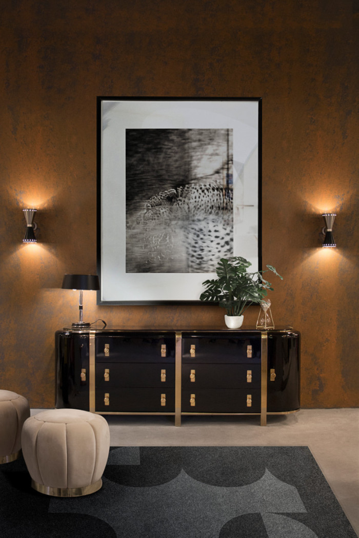 black 50 Unforgettable Black Home Accents and Interior Decorating Ideas Essential Home Kahn Sideboard 01