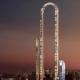 Curved skyscraper in Manhattan