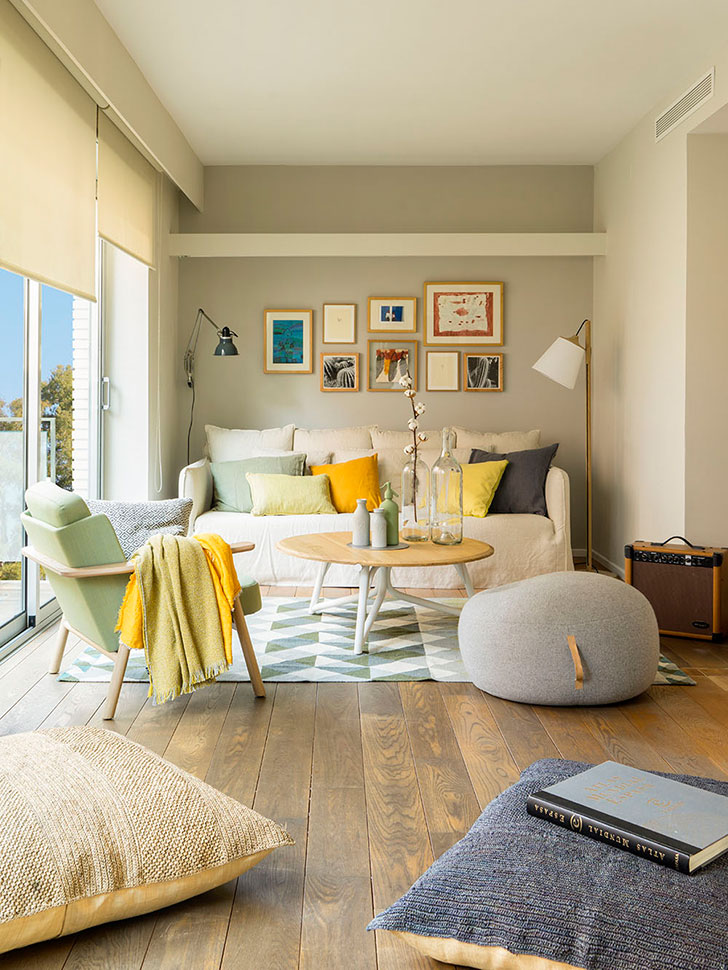 summer interior in barcelona summer interior Summer interior in Barcelona colorful home in barcelona pufikhomes 1
