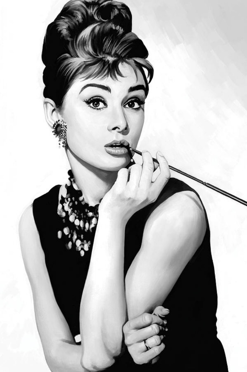What Made These Women the Biggest Fashion Icons of the 20th Century fashion icons What Made These Women the Biggest Fashion Icons of the 20th Century audrey hepburn artwork sheraz a