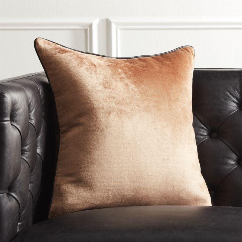 How to Make Velvet Furniture Work in Your Summer Home Decor velvet furniture How to Make Velvet Furniture Work in Your Summer Home Decor 18 copper crushed velvet pillow