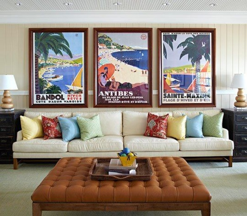 Living Room Wall Decor: 10 Vintage Lifestyle Posters ... on Room Decor Posters id=71670