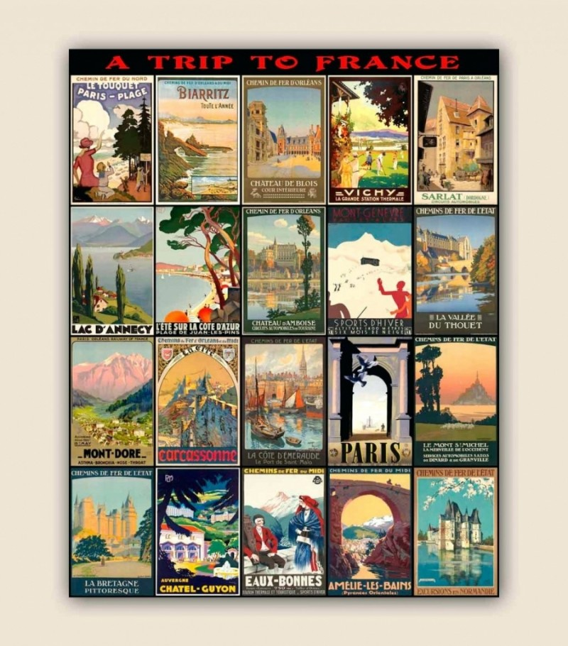 Living Room Wall Decor: 10 Vintage Lifestyle Posters ... on Room Decor Posters id=79605