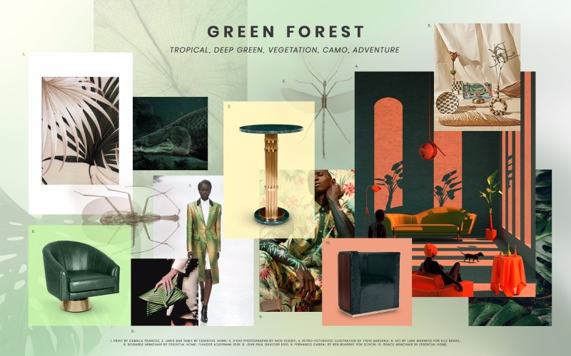 Moodboards Trends 2019 Green Forest In Fashion
