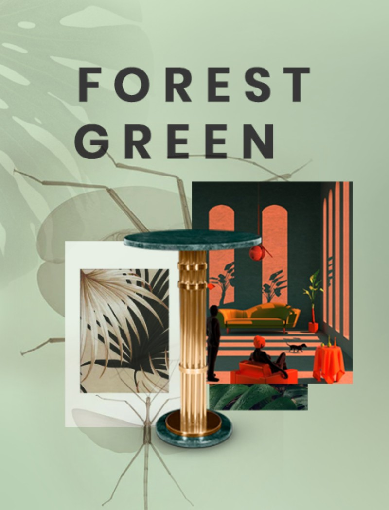 green forest Moodboards Trends 2019: Green Forest In Fashion forest green