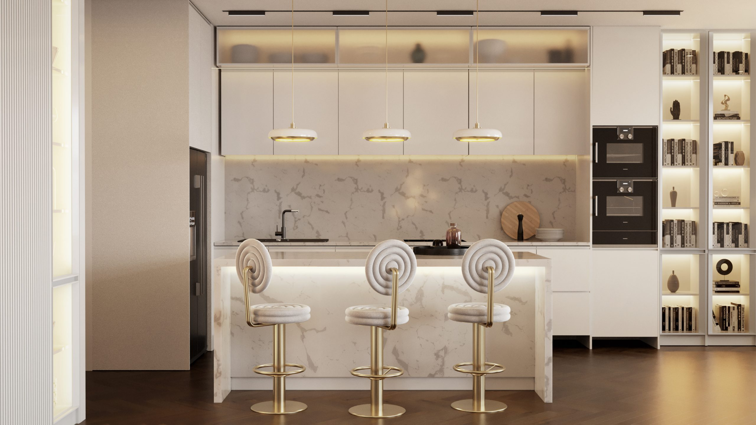 BURLESQUE KITCHEN DESIGN WITH NEW BAR CHAIR