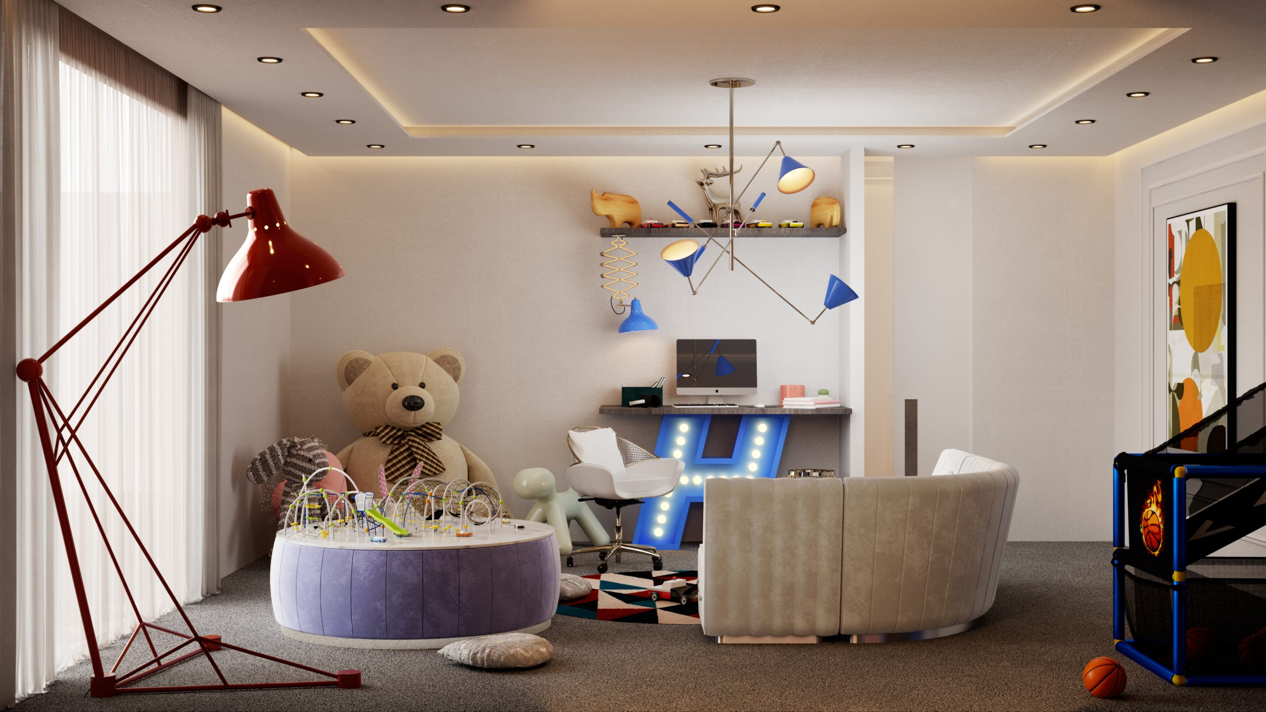 Dreamy Mid-Century Modern Playroom In Our NYC Apartment