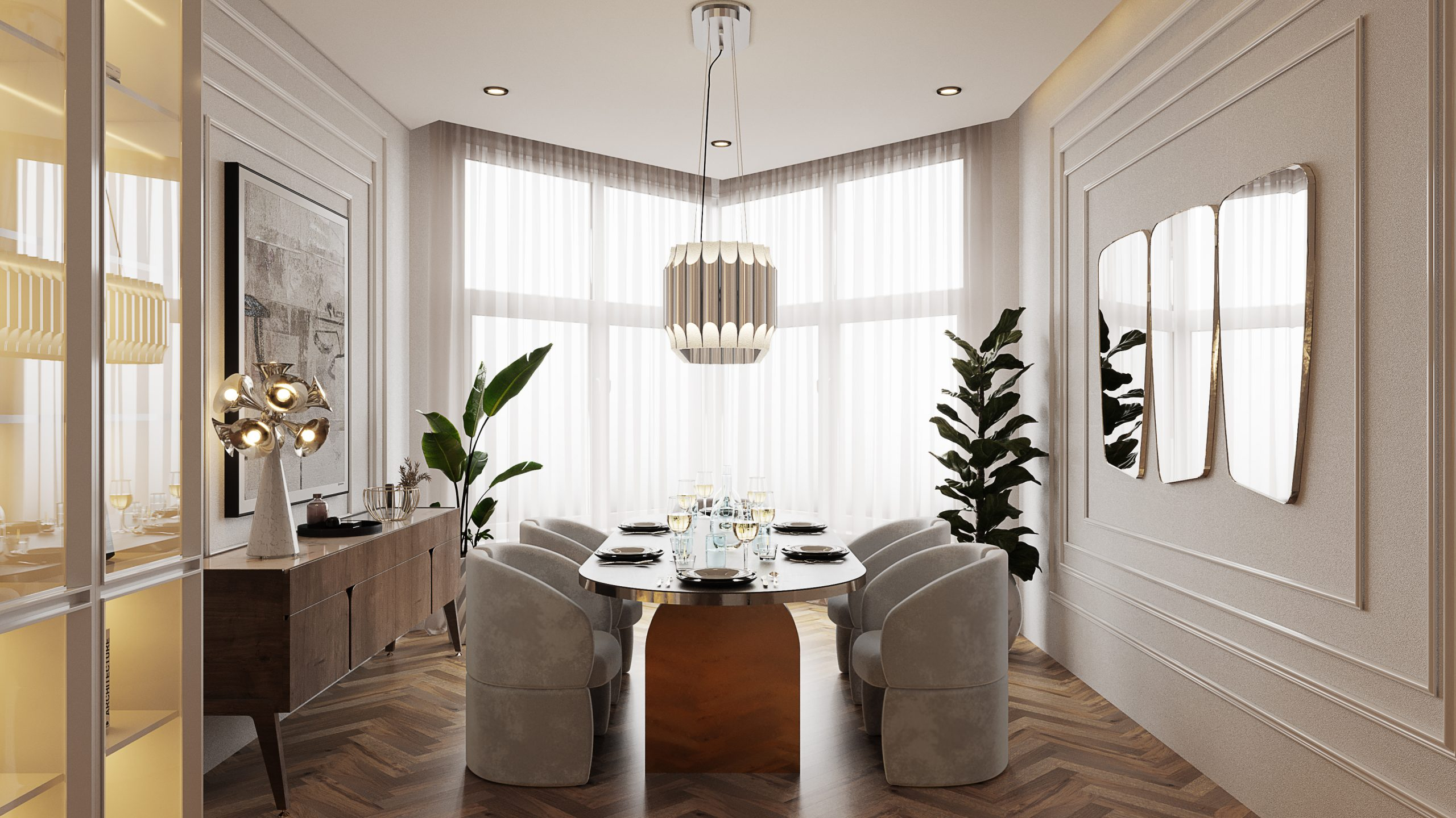 A Dining Room Full Of Glitz And Glamour