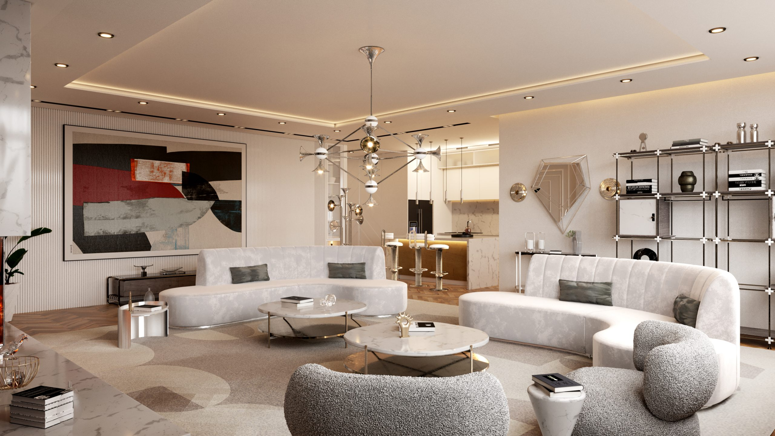 Neutral Living Room In Our Million Dollar NYC Apartment